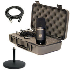 MXL 770 Condenser Microphone With Shockmount, Case & Desktop Mic Stand