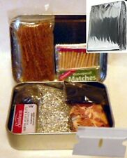 Emergency Survival Kit  Fire Starting Kit in Rectangular Tin + Mylar Blanket