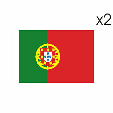2 Stickers DRAPEAU PORTUGAL - 5cm x 6,5cm