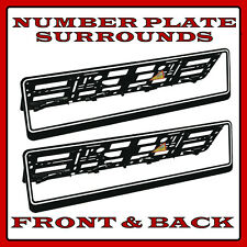 2x Number Plate Surrounds Holder White Rim for VW Transporter T5 T4
