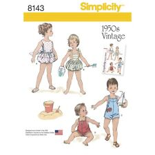 SEWING PATTERN! MAKE BABY BOY~GIRL VINTAGE STYLE 50'S PLAYSUITS! PREEMIE~24 LBS!