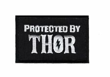 Protected by THOR Viking Odin Embroidered 3 inch Hook Patch