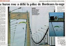 Coupure de Presse Clipping 1989 (2 pages) Le Baron rose defie la police bordeaux