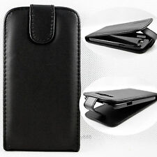 Wonderful Leather Flip Black Hard Case Cover For Samsung Galaxy Grand Duos i9082