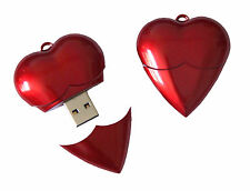 Red heart USB 2.0 Memory Stick Flash pen Drive 8GB Romantic Gift for your Lover