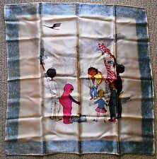 Rare Lufthansa First Class Scarf of the late 1960ies symbolizing network of B707