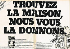PUBLICITE ADVERTISING 055 1976  EUROPE 1 radio (2p ) MARIE-CLAIRE  DENISE FABRE