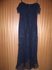 ETAM BLACK DRESS WITH SILVER. SIZE 12.  STUNNING.