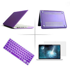 "New Rubberized Hard Case+Keyboard Cover+LCD Film For Apple Mac Book Air 11""/ 13"""