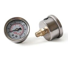Fuel Pressure Regulator gauge 0-160 PSI / bar Liquid Fill chrome fuel/oil Gauge