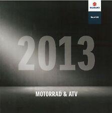 Suzuki Prospekt 2013 Motorradprospekt Motorrad Quad ATV GSXR1000 RM85 VanVan RMZ