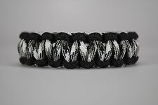 550 Paracord Survival Bracelet Cobra Black/Urban Camo Camping Military Tactical