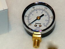 "LARGE 2"" Oil Burner Fuel Pressure Test Gauge for Beckett, Danfoss, Suntec pumps"