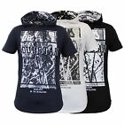 Mens Short Sleeved Long Line Hooded Printed Top T Shirts By Soul Star