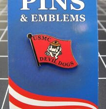 """BRAND NEW Lapel Pin United States Marine Corps Devil Dogs Red Enamel 1"""""""