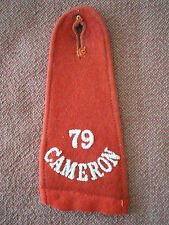 1910 to WW1 Period 79th CAMERON HIGHLANDERS of CANADA SHOULDER STRAP / EPAULET.