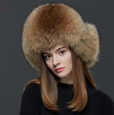 Raccoon fur hat  +  fox Winter Women fox fur hat New Hat Cap Headgear Beanie 01