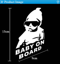 Baby on Board Vinyl Car Sticker with sunglasses Decal Sign Window Safety Bumper