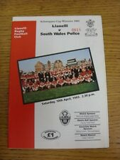 10/04/1993 Rugby Union Programme: Llanelli v South Wales Police