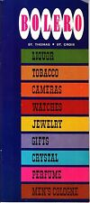 Bolero St Thomas St Croix Liquor Watches Jewelry Gifts Vintage Booklet Prices