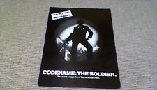 Codename: The Soldier UK Cinema Synopsis Sheet 1982 Ken Wahl James Glickenhaus