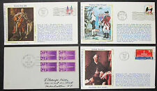 US postage set of 4 covers Patriotic colorano SILK cachet usa lettere (h-8323