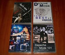 DEPECHE MODE 4x DVD Lot TOURING THE ANGEL 101 LIVE ONE NIGHT IN PARIS VIDEOS New