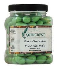 Dark Chocolate Mint Covered Almonds - 1.5 Lb Tub - Free Expedited Shipping
