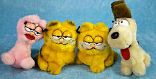 "Dakin Garfield Arlene Pink Cat Odie Dog 5"" Small Plush Stuffed Animal Lot Vtg"
