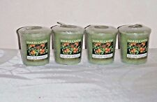 Yankee Candle Bay Leaf Wreath scented votives lot 4 new Christmas green wax