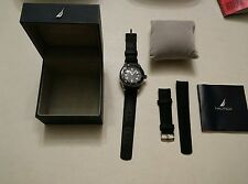 025 N16533G Nautica Classic Analog Men's Watch Box Papers Extra Silicone Band