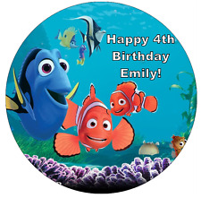 Finding Nemo Dory Personalised Edible Cake Topper Wafer Paper 7.5""