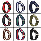 18mm/20mm 260mm 9Colors Ballistic Durable Military Nylon Wrist Watch Band Strap