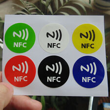 6pcs NFC Tag Stickers Rfid Label Tags HTC BLACKBERRY DIY Waterproof HOT
