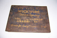 VINTAGE THE WICKWIRE STARTER SPRING BOLT WASHER METAL PARTS CABINET CARRIER BOX