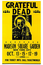 Grateful Dead Concert Poster, Madison Square Garden, New York City