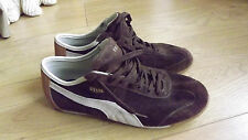 BROWN SUEDE LEATHER PUMA TRAINERS RETRO VINTAGE 1844 UK 6