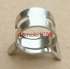 """10 Pcs Clamp Fit 5/8"""" OD PVC Tubing Easy to Release Chromed For Water Cooling"""