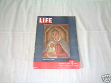 VINTAGE LIFE MAGAZINE DECEMBER 25 1944 MADONNA & CHILD THE LAST PRUSSIAN TRISTAN