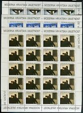 CROATIA 1993 EUROPA/ART/CONTEMPORARY PAINTINGS/DULCIC/STANCIC/IVANCIC SHEET MNH