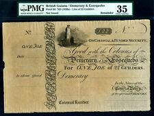 British Guiana:P-B1,1 Joe of 22 Guilders,1830s * PMG VF 35 * RARE *
