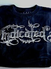 Vindicated XXL T Shirt Tattoo Lettering 2XL Black White T-Shirt Tee Mens