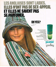 PUBLICITE ADVERTISING 064  1975  YARDLEY   eau de toilette  SEA SPRAY