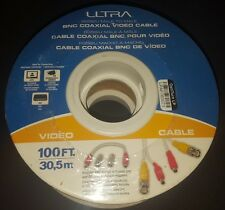 Ultra U12 41633 100 Ft Rg58/U Male To Male Bnc Coaxial Video Cable