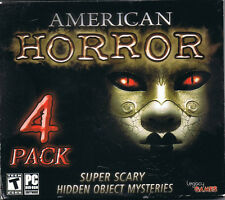 American Horror 4 Pack - Hidden Object Mysteries (PC, 2013, Legacy Games)