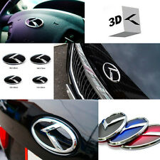 3D K Logo Front + Rear + Horn Cap Emblem 3EA 1Set For KIA K9 K900 2014 2015+