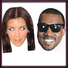 Celebrity Face Mask Kim Kardashian & Kanye West Hen Stag Party Fancy Dress Party
