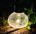 Decorative Outdoor Solar Light Hanging Glass Lantern Path Patio Lawn Garden Set