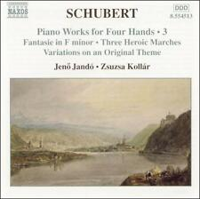Schubert: Piano Works for Four Hands, Vol. 3, New Music