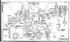 SUPERMARINE SPITFIRE COCKPIT PLANS RARE BLUEPRINT DRAWINGS WW2 from originals